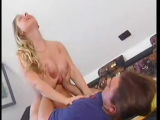 Naughty huge breasts on hottie that fucks and sits