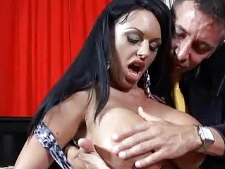 Heavy chested milf with black hair does unfathomable throat