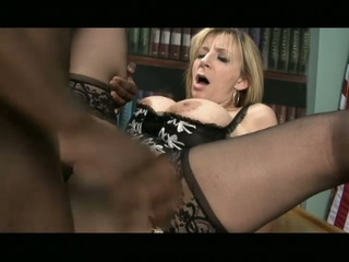 Sara jay loves big black cocks in her fascinating white pussy