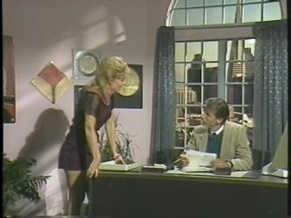 Blond Retro MILF Sucks and Fucks her Boss' Shlong in the Office