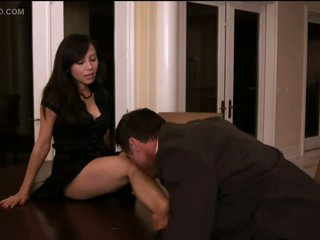 Christine Nguyen Sucks Cock and Acquires Fucked On a Table - Softcore Sex Scene