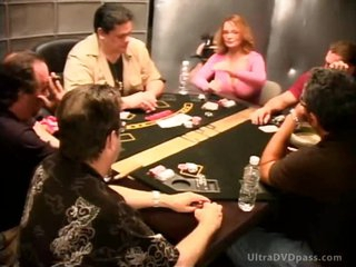 Sexy Blonde Babe Loses Bet and Masturbates - Celebrity Porno Poker