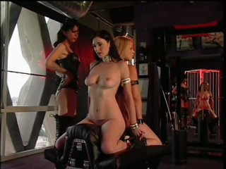 Dominant Layla Jade Fucks Her 2 Lesbian Sex Slaves With a Strapon