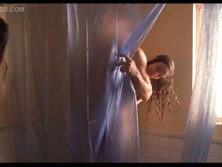Sexy Movie Star Gabrielle Anwar Bare Under The Shower - Hot Sex Scene