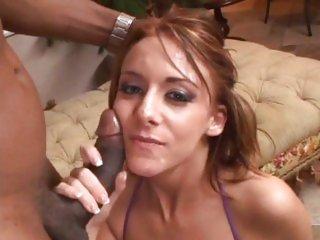 Alluring Sierra Sin acquires her face splattered with cum