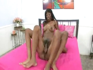 Black girl with long hard meat inside her