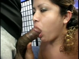 Black Meat For Chubby Pregnant Latin chick