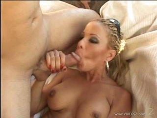 Insatiable Blonde Cougar Sophia Sandobar Acquires a Thick Facial