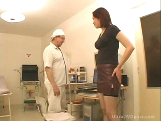 Horny Doctor Copulates Busty Brunette Playgirl And Gives Her A Sticky Facial
