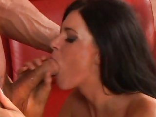 Sumptuous India Summers slobbers over a huge cock