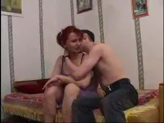 Milf redhead enjoys the juvenile chap cock