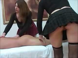 Two Hot Young Chicks Give Attention To Knob