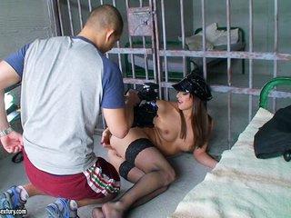 Exotic brunette amateur enjoys getting naked and showing off her bald vagina