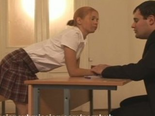 A wicked schoolgirl gets punished and fucked