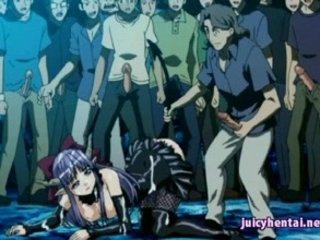 Hentai Hottie Gets Gangbanged