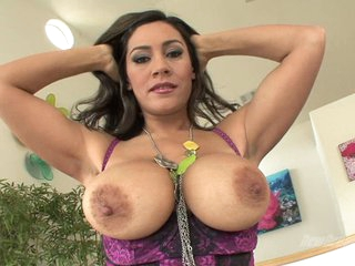 Raylene lusty chick exposing her biggie size boobs