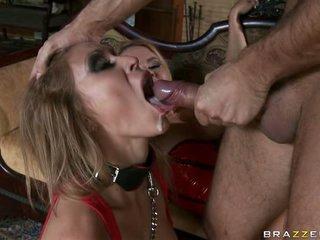 Krissy Lynn and Monique get spunk by a hard cock