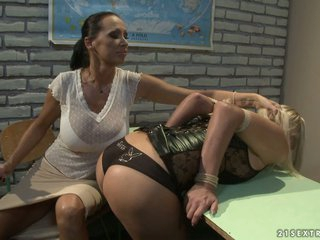 Mandy Bright and Tara Pink nasty teacher and student
