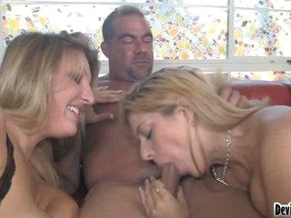 Lusty Kodi Gamble sucking a fortunate guys hardon deep in her slippery mouth