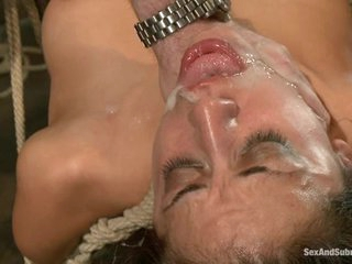 Amazing Layla Storm gets splattered with cock sauce