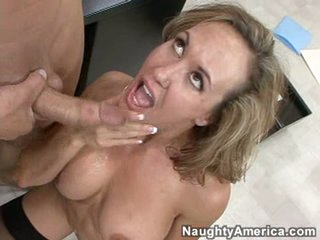 Sexy Brandi Love got rewarded fellow cream after a hot sensational fuck