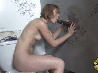 Rampant Allison Wyte slurps on this palatable fuck stick