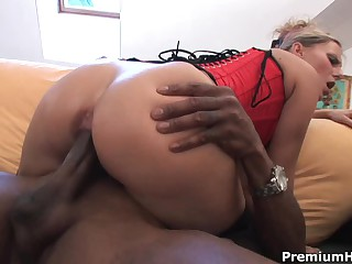 Interracial sex with blonde babe Patricia
