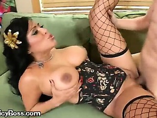 A Brunette Pornstar Banged Hard By A Tattooed Guy