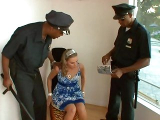 Hot babe Brianna Love gets dp'd by two horny cops