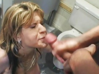 Tyla Wynn gets her face sprayed with hot cock juice
