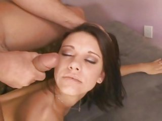 Lexi Lynn gets her face splattered with hot jizz