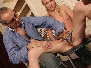 Kinky teacher copulates dumb coed on the floor