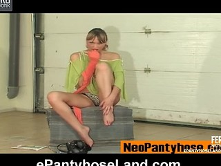 Helga videotaped whilst wearing hose