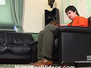 Florence&Adam sexy nylon feet action