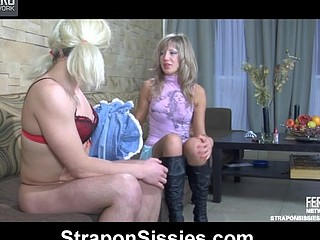 Nora&Sebastian sissified guy straponfucked