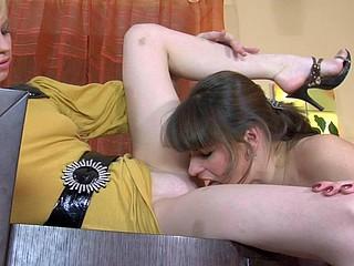 Gloria&Paulina nylons lesbo sex movie