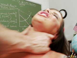 brandy aniston learns more than math after class!