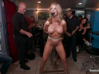 mature pornstar humiliated in a bar