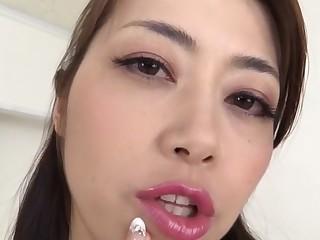 Horny Japanese whore Maki Hojo in Amazing handjobs, couple JAV clip