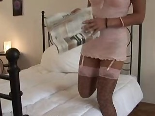 British wench Keira acquires screwed in leopardskin nylons