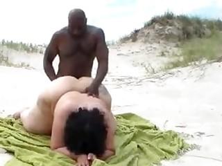 Interracial BBW Careen FUCKING