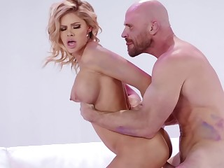 Body painting fun and hardcore sex with Jessa Rhodes