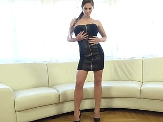 Big black cocks and DAP anal creampie for Hungarian hottie