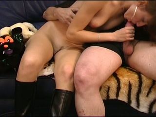 European cum eating girl shows u what she's got