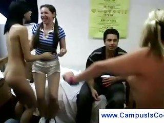 Naughty students run around naked