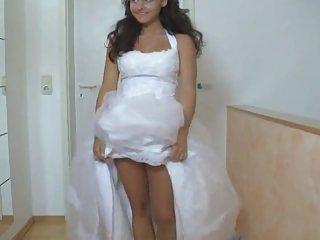 Girl in her wedding costume fucked hard
