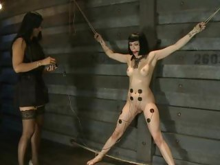 Dominatrix Isis Love wires up Asphyxia for some fun