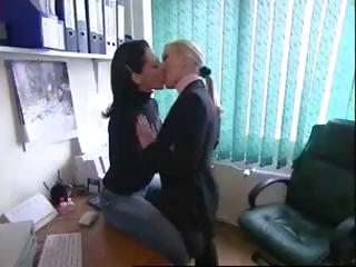 Various sexy clips of sexy lesbos babes in sensual kissing